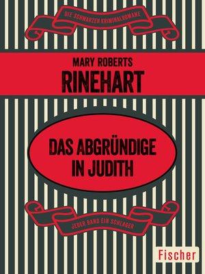 cover image of Das Abgründige in Judith