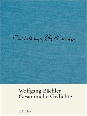 cover image of Gesammelte Gedichte