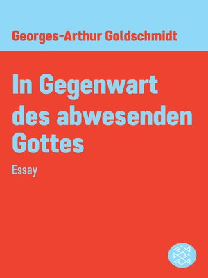cover image of In Gegenwart des abwesenden Gottes
