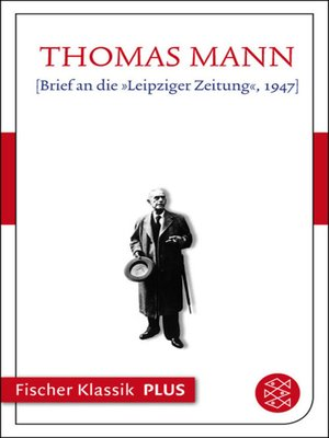 cover image of [Brief an die »Leipziger Zeitung«, 1947]