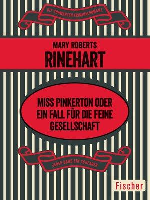 cover image of Miss Pinkerton oder Ein Fall für die feine Gesellschaft