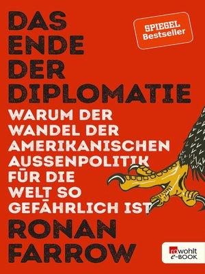 cover image of Das Ende der Diplomatie