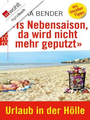 cover image of «Is Nebensaison, da wird nicht mehr geputzt»