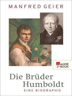 cover image of Die Brüder Humboldt
