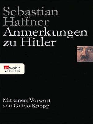 cover image of Anmerkungen zu Hitler