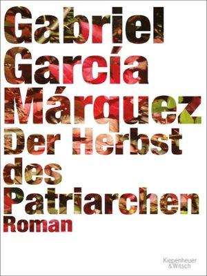 cover image of Der Herbst des Patriarchen