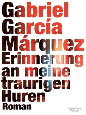 cover image of Erinnerung an meine traurigen Huren