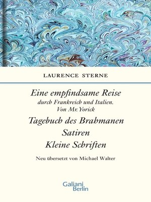 cover image of Empfindsame Reise, Tagebuch des Brahmanen, Satiren, kleine Schriften