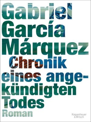 cover image of Chronik eines angekündigten Todes