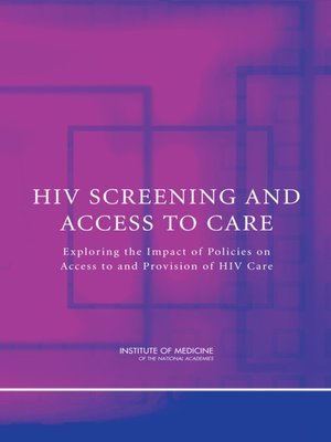 cover image of HIV Screening and Access to Care