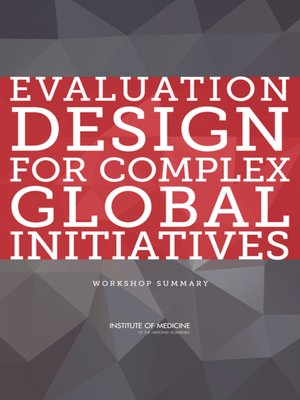 cover image of Evaluation Design for Complex Global Initiatives