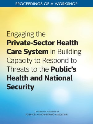 cover image of Engaging the Private-Sector Health Care System in Building Capacity to Respond to Threats to the Public's Health and National Security