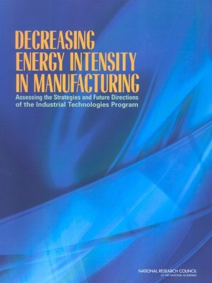 cover image of Decreasing Energy Intensity in Manufacturing