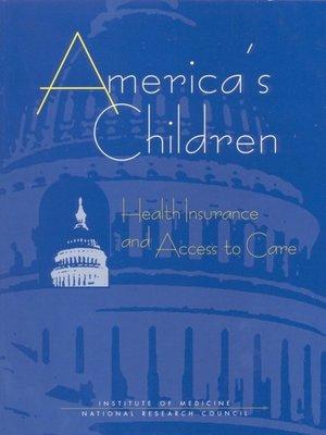 cover image of America's Children