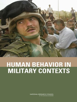 cover image of Human Behavior in Military Contexts