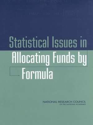 cover image of Statistical Issues in Allocating Funds by Formula