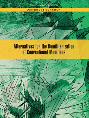 cover image of Alternatives for the Demilitarization of Conventional Munitions