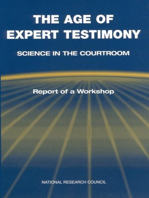 cover image of The Age of Expert Testimony