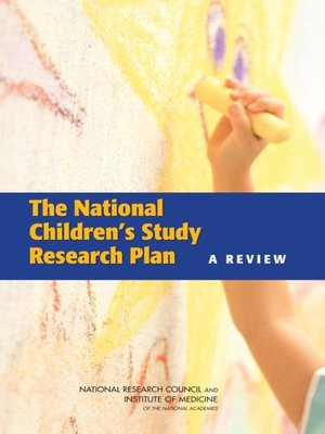 cover image of The National Children's Study Research Plan