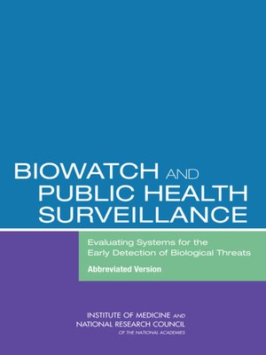 cover image of BioWatch and Public Health Surveillance