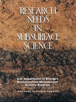 cover image of Research Needs in Subsurface Science