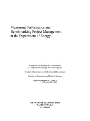 cover image of Measuring Performance and Benchmarking Project Management at the Department of Energy