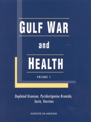 cover image of Gulf War and Health, Volume 1