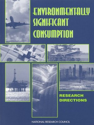 cover image of Environmentally Significant Consumption