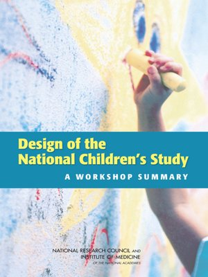 cover image of Design of the National Children's Study