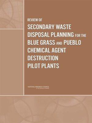 cover image of Review of Secondary Waste Disposal Planning for the Blue Grass and Pueblo Chemical Agent Destruction Pilot Plants