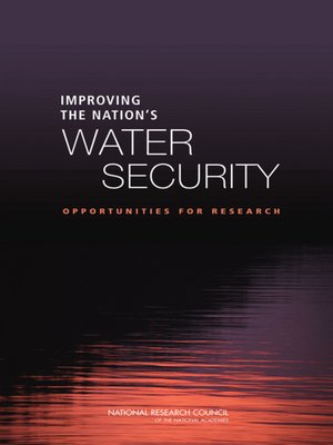 cover image of Improving the Nation's Water Security