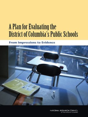 cover image of A Plan for Evaluating the District of Columbia's Public Schools