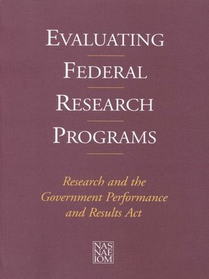 cover image of Evaluating Federal Research Programs