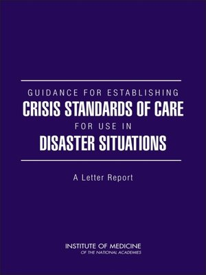 cover image of Guidance for Establishing Crisis Standards of Care for Use in Disaster Situations