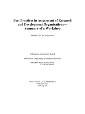 cover image of Best Practices in Assessment of Research and Development Organizations