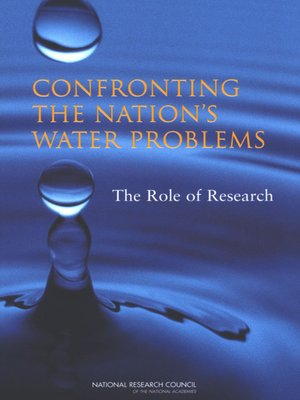 cover image of Confronting the Nation's Water Problems