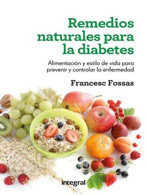 cover image of Remedios naturales para la diabetes