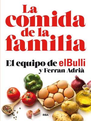 cover image of La comida de la familia