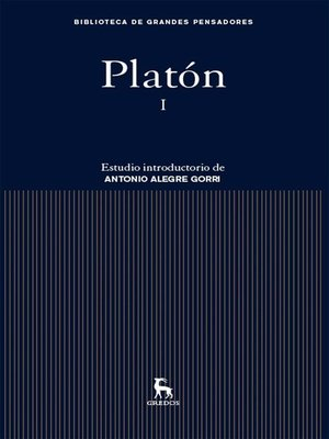 cover image of Platón I