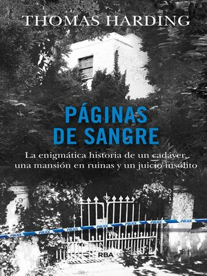 cover image of Páginas de sangre