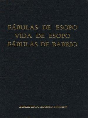 cover image of Fábulas