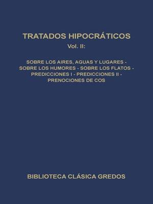 cover image of Tratados hipocráticos II