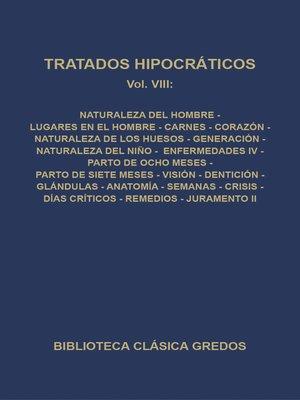 cover image of Tratados hipocráticos VIII