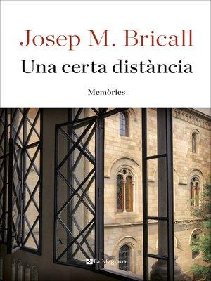 cover image of Una certa distància. Memòries