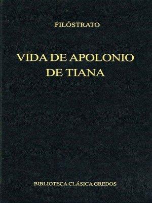 cover image of Vida de Apolonio de Tiana