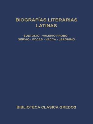 cover image of Biografías literarias latinas