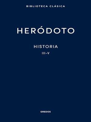 cover image of Historia. Libros III-V