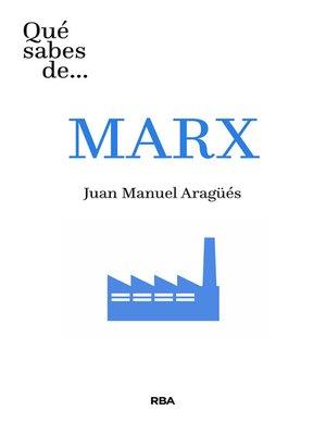 cover image of Qué sabes de... MARX