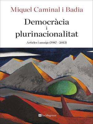 cover image of Democràcia i plurinacionalitat
