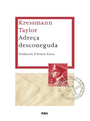 cover image of Adreça desconeguda